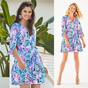 Lilly Pulitzer Laeda Wrap Dress in Tweethearts